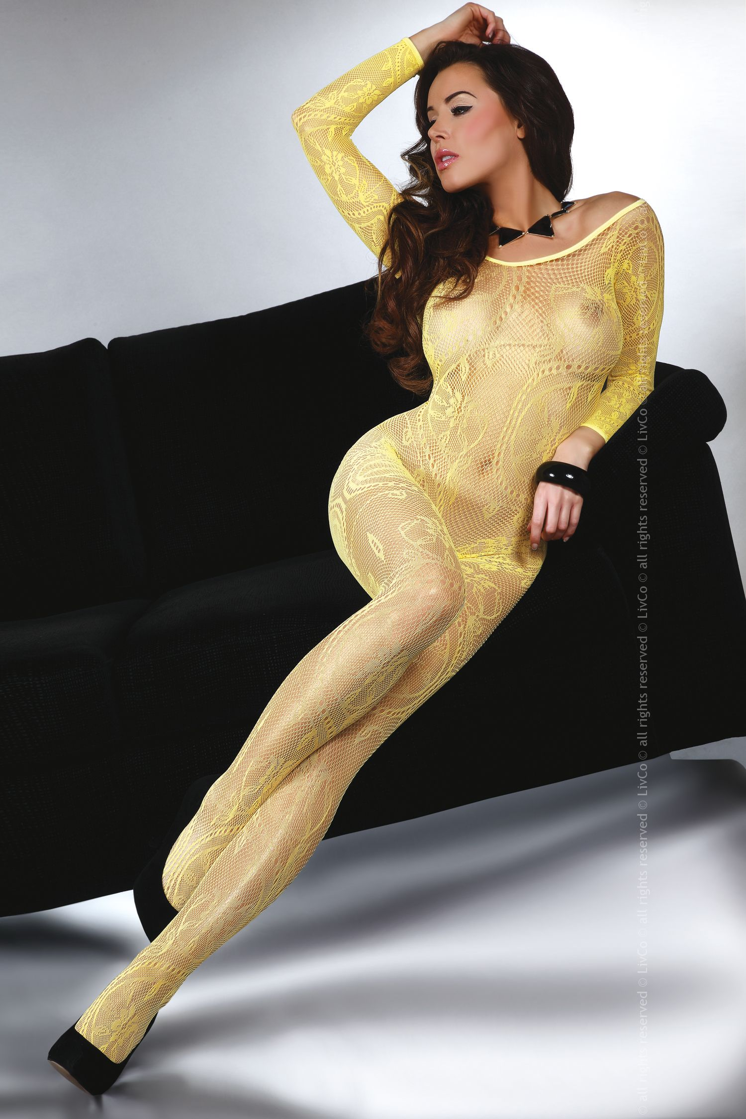 Bodystocking Abra yellow